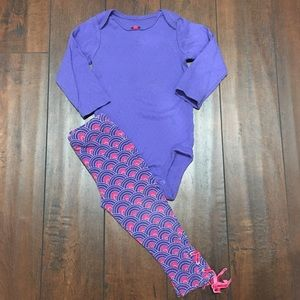 Cute Baby Girls Carter's Purple Outfit 12 Mos